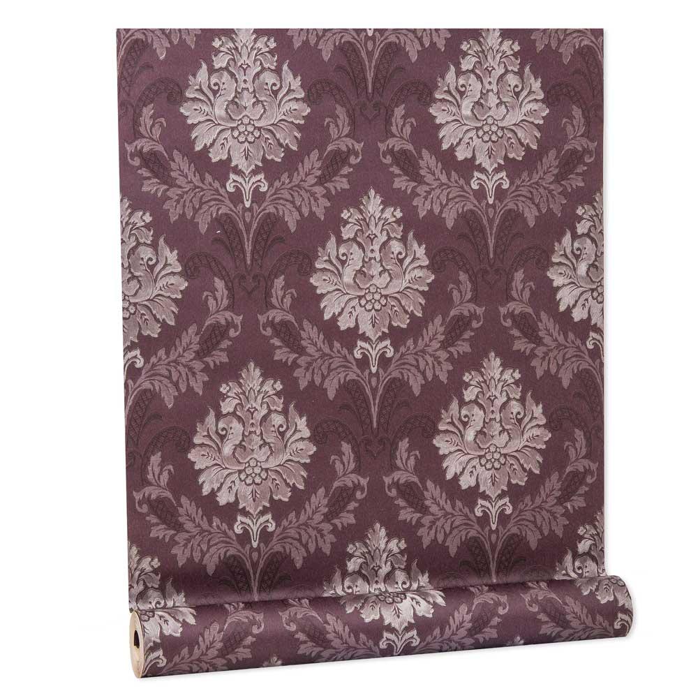 Papel De parede vinílico texturizado arabesco sala 210347