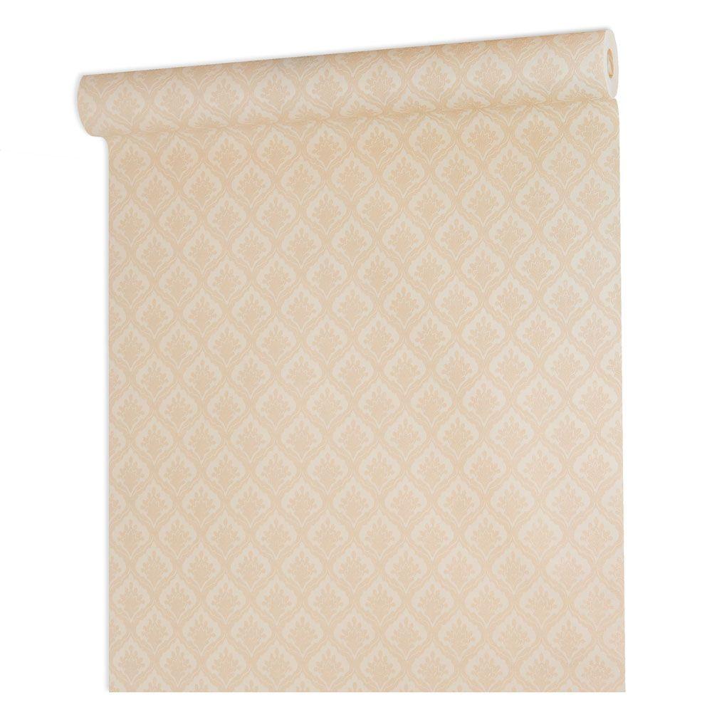 Papel De parede vinílico texturizado arabesco sala 210361
