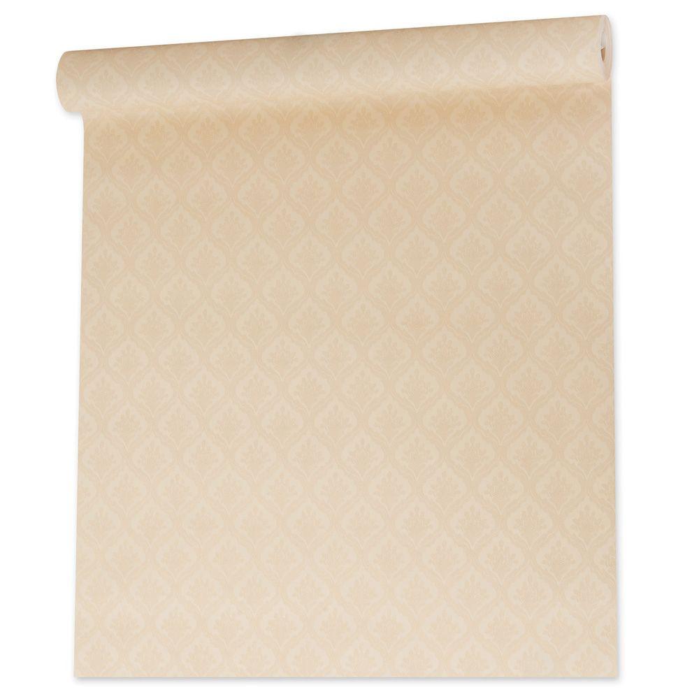 Papel De parede vinílico texturizado arabesco sala 210366