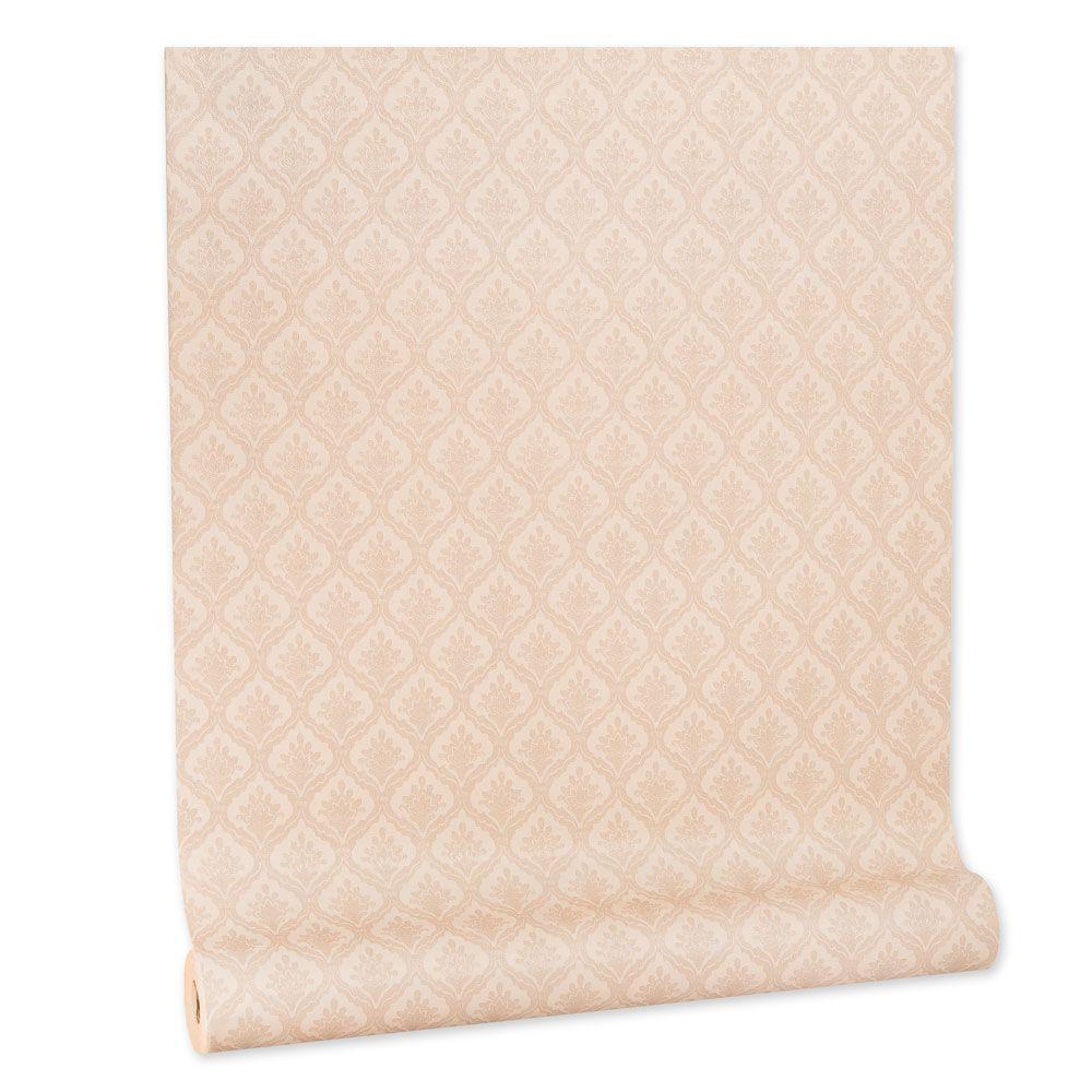 Papel De parede vinílico texturizado arabesco sala 210368
