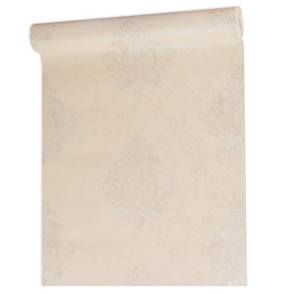 Papel De parede vinílico texturizado arabesco sala 56101