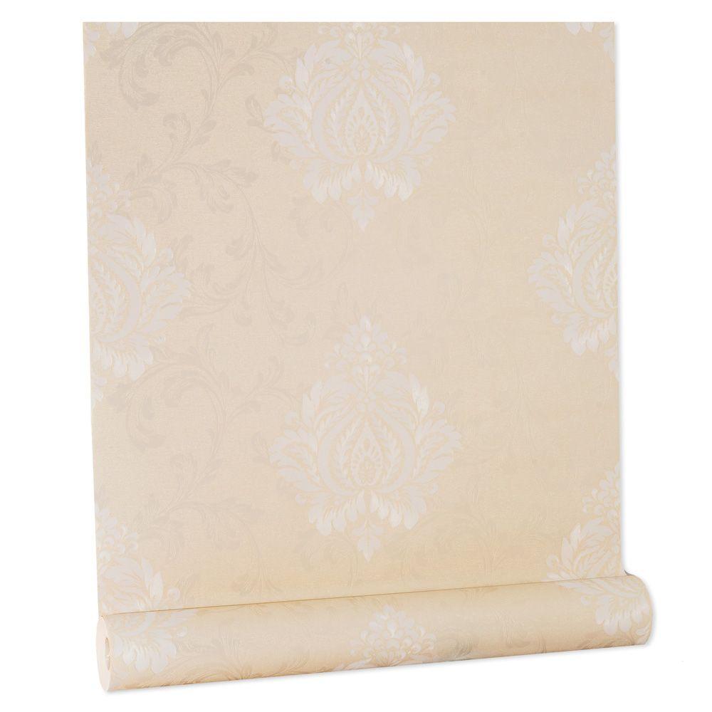 Papel De parede vinílico texturizado arabesco sala 56102