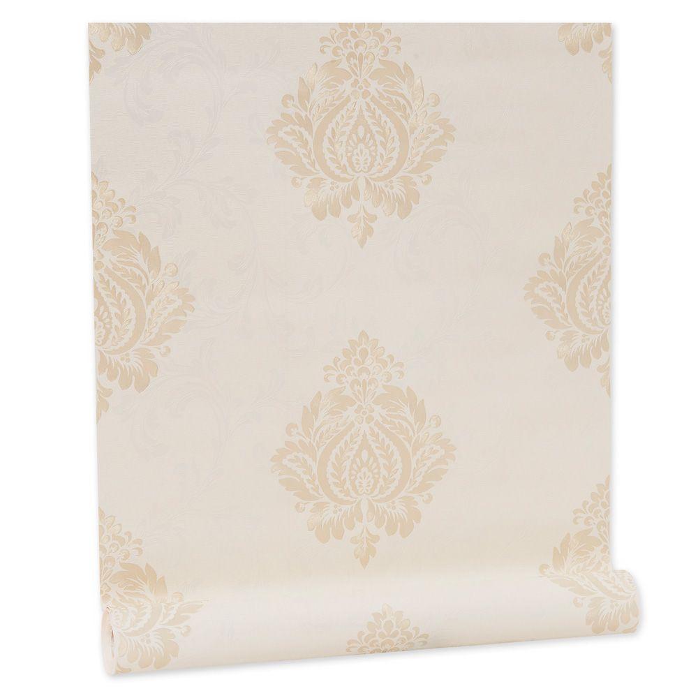 Papel De parede vinílico texturizado arabesco sala 56103