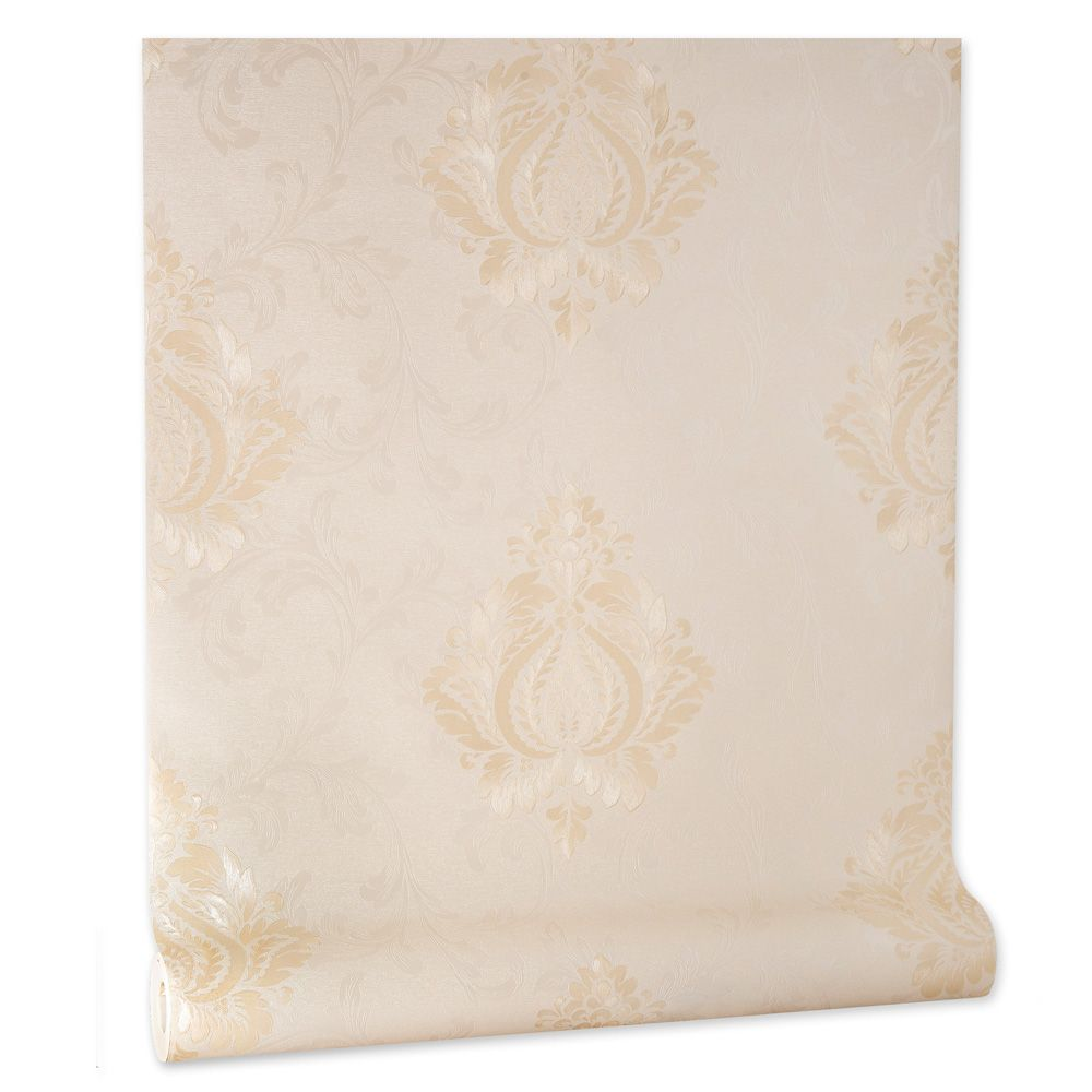 Papel De parede vinílico texturizado arabesco sala 56104