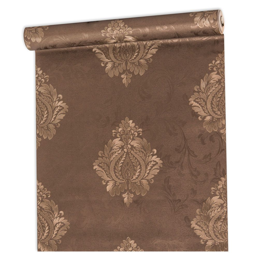 Papel De parede vinílico texturizado arabesco sala 56107