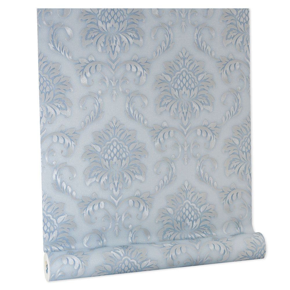 Papel De parede vinílico texturizado arabesco sala 5619