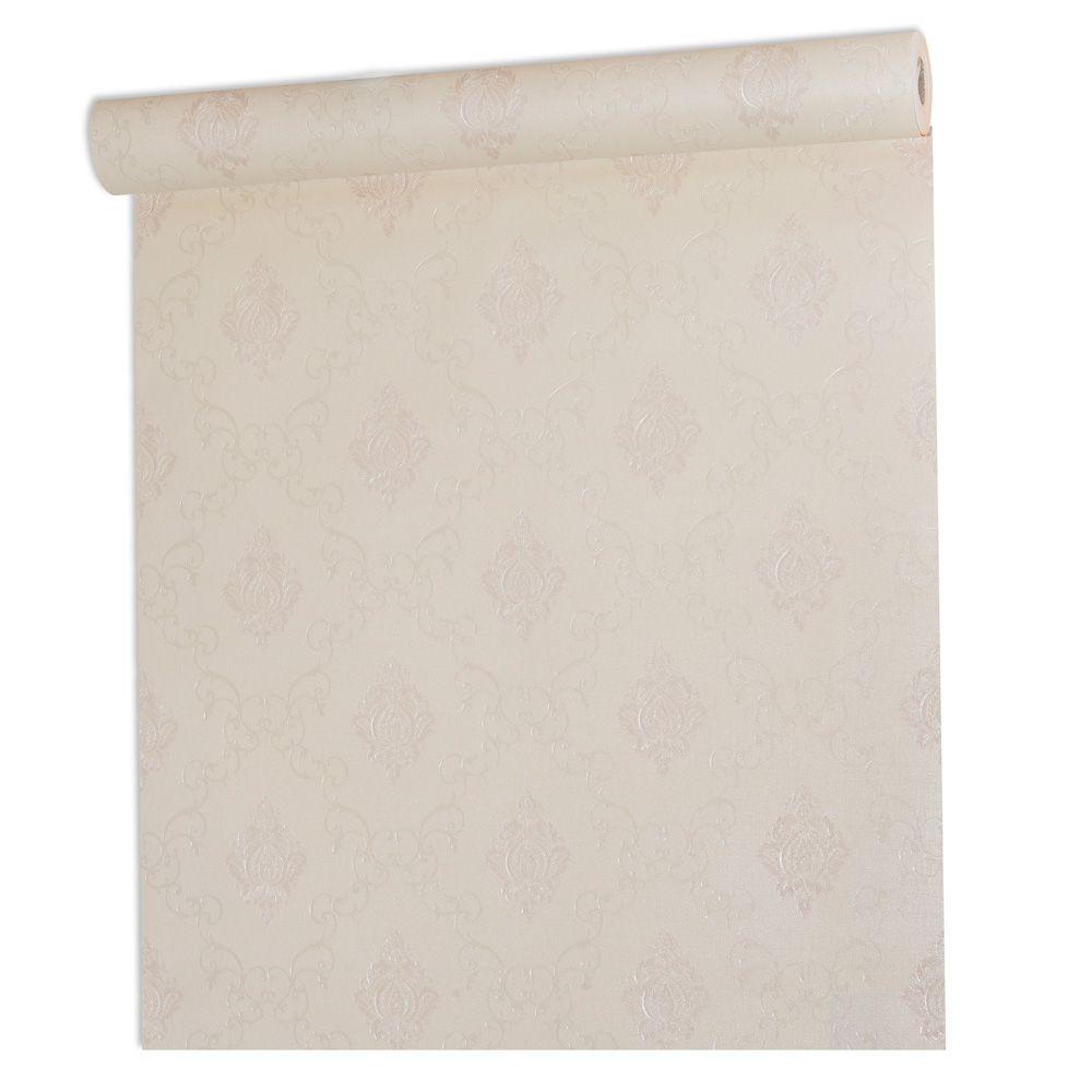 Papel De parede vinílico texturizado arabesco sala 7951