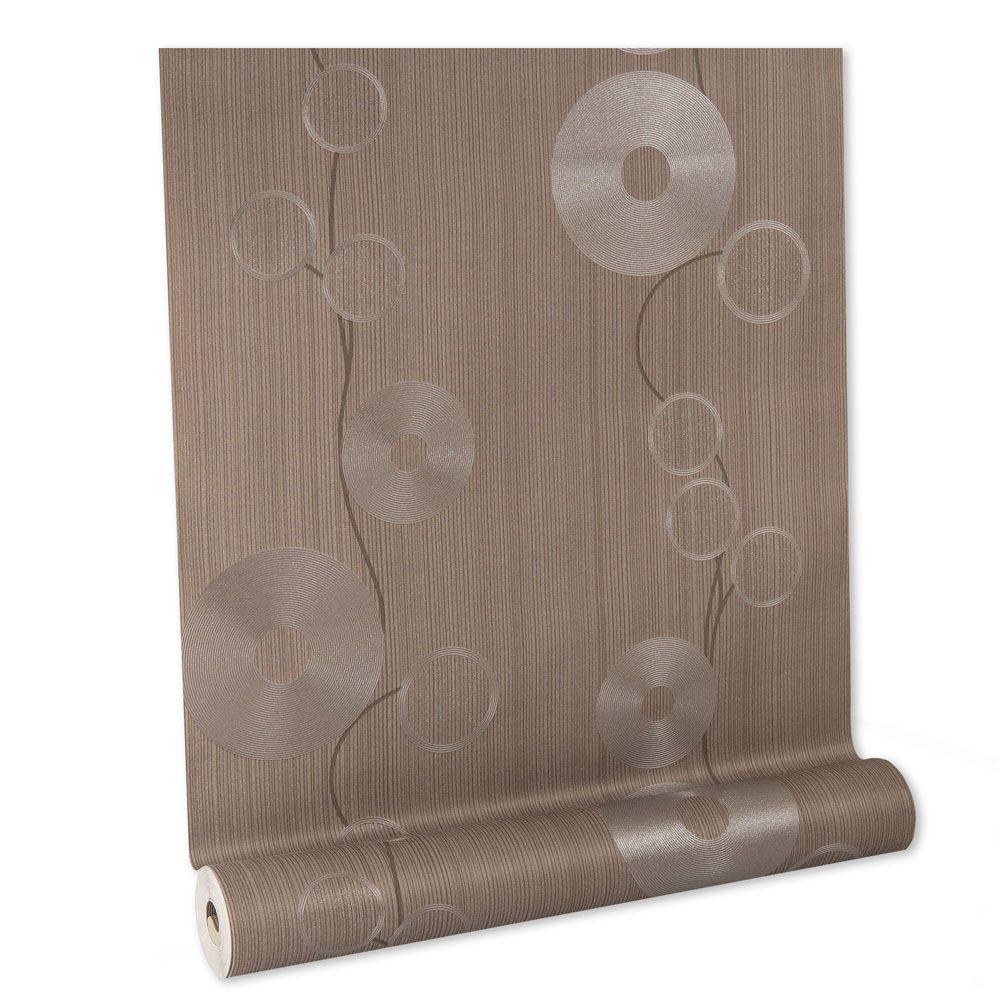 Papel De parede vinílico texturizado disco listrado 160165