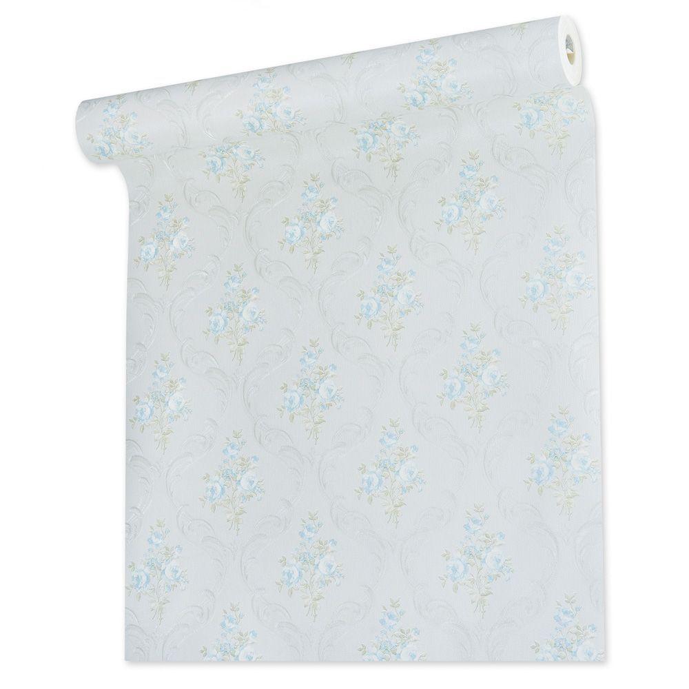 Papel De parede vinílico texturizado arabesco floral 5633
