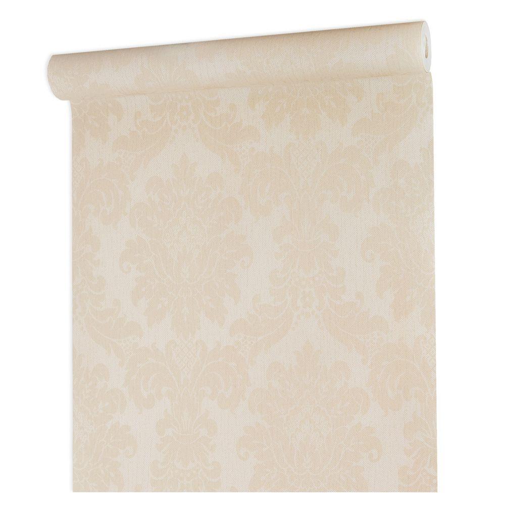 Papel De parede vinílico texturizado lavável arabesco 1001