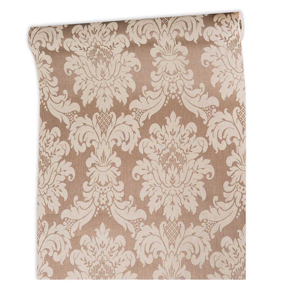 Papel De parede vinílico texturizado lavável arabesco 1005