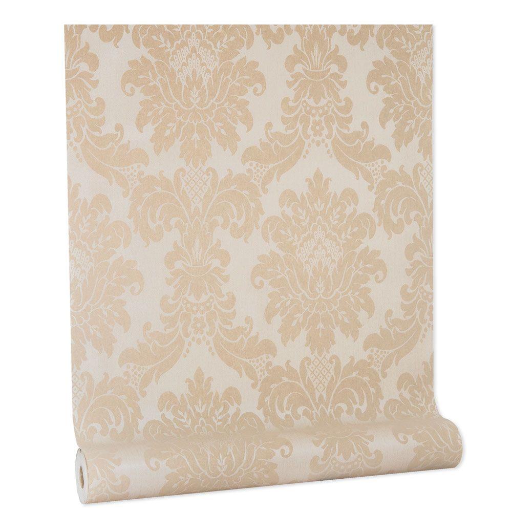 Papel De parede vinílico texturizado lavável arabesco 1007