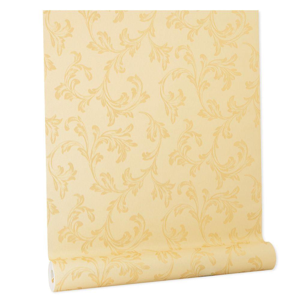 Papel De parede vinílico texturizado lavável arabesco 5695