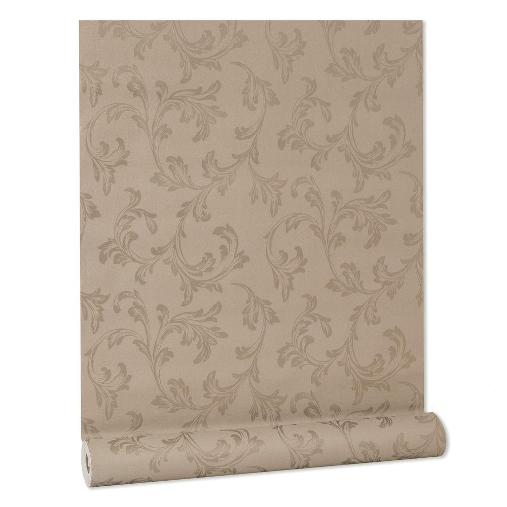Papel De parede vinílico texturizado lavável arabesco 5696