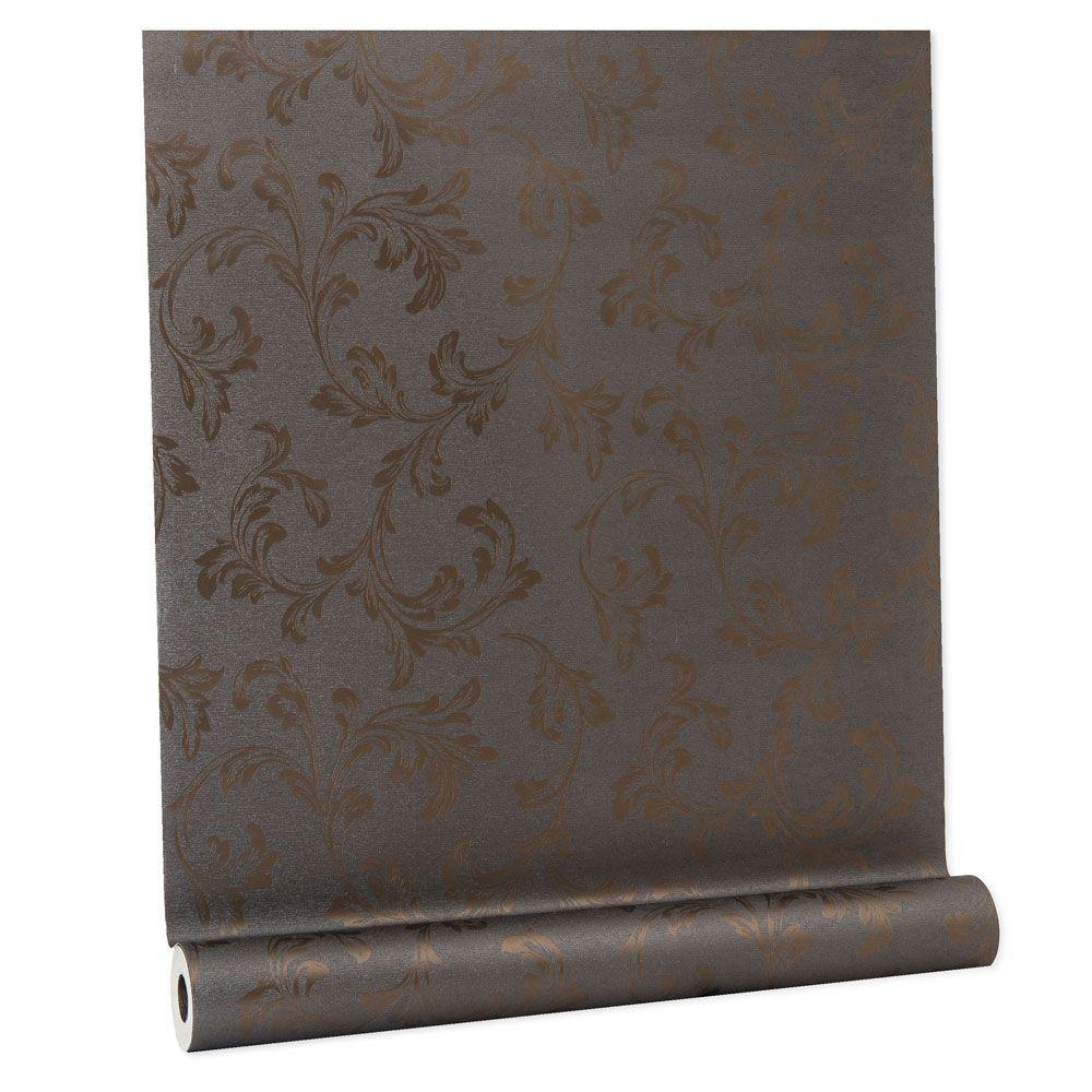 Papel De parede vinílico texturizado lavável arabesco 5698