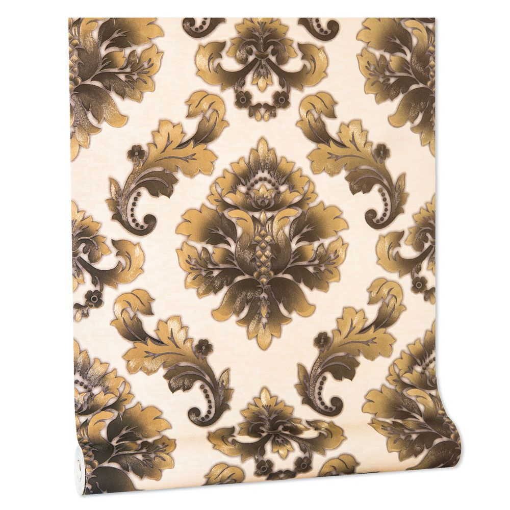 Papel De parede vinílico texturizado lavável arabesco 5805