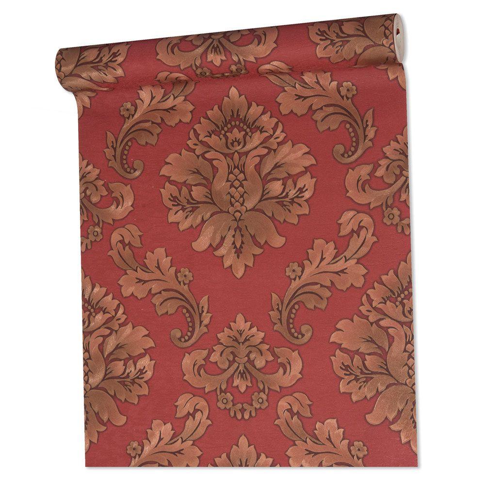 Papel De parede vinílico texturizado lavável arabesco 5806