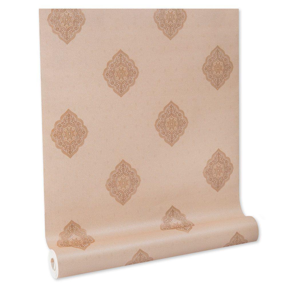 Papel De parede vinílico texturizado lavável arabesco 5825
