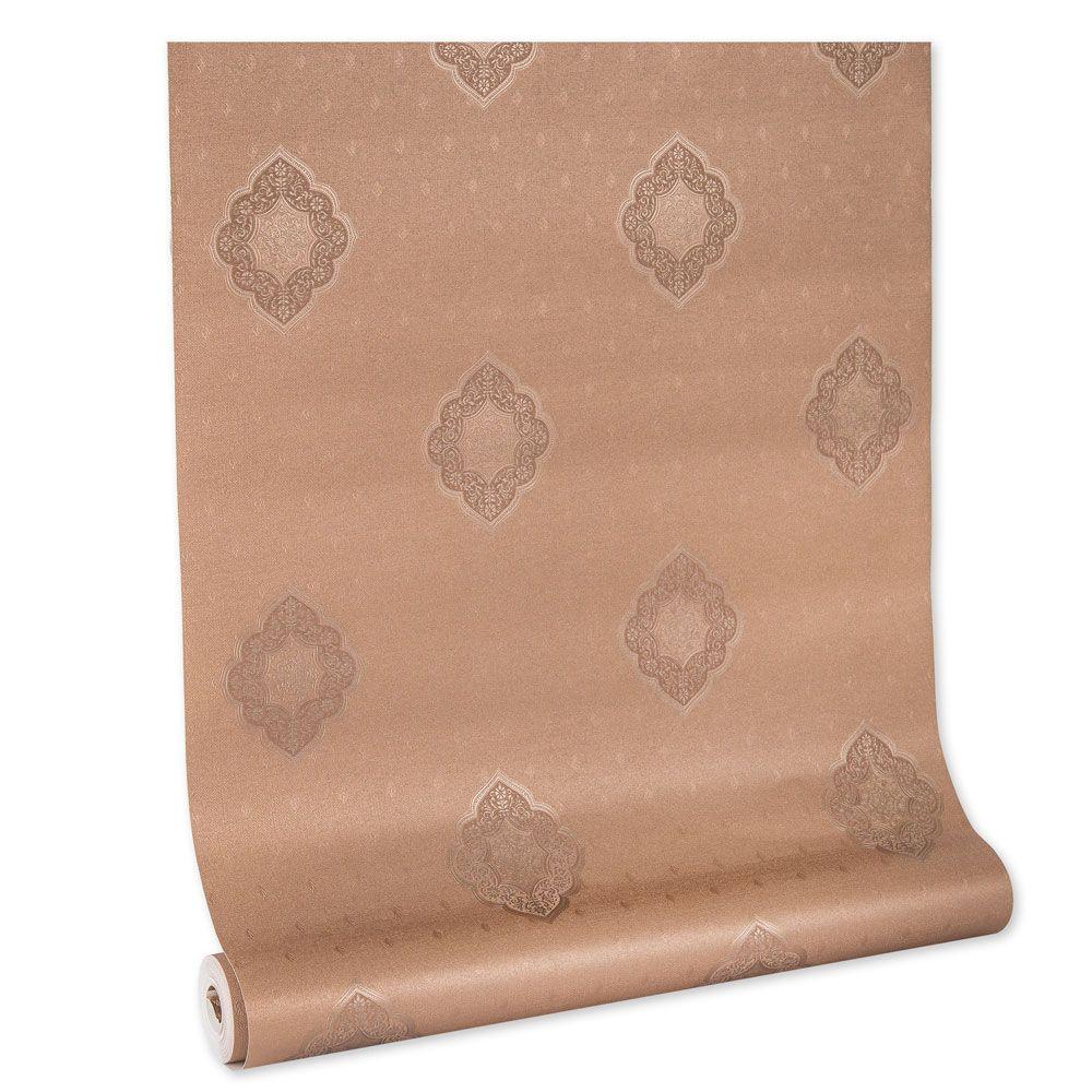Papel De parede vinílico texturizado lavável arabesco 5826