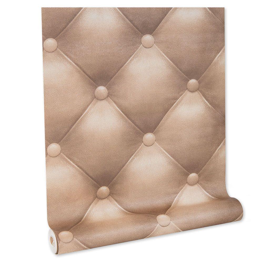 Papel De parede vinílico texturizado lavável cabeceira quarto 5842