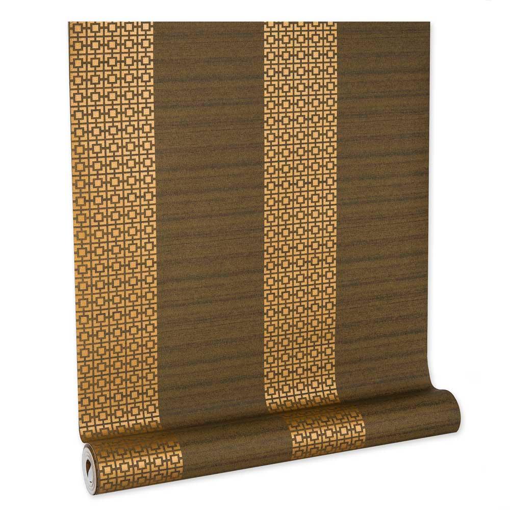 Papel De parede vinílico texturizado lavável listrado 903