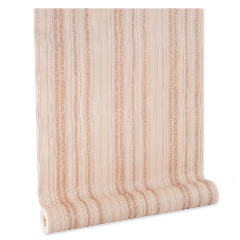 Papel De parede vinílico texturizado listrado sala 210275