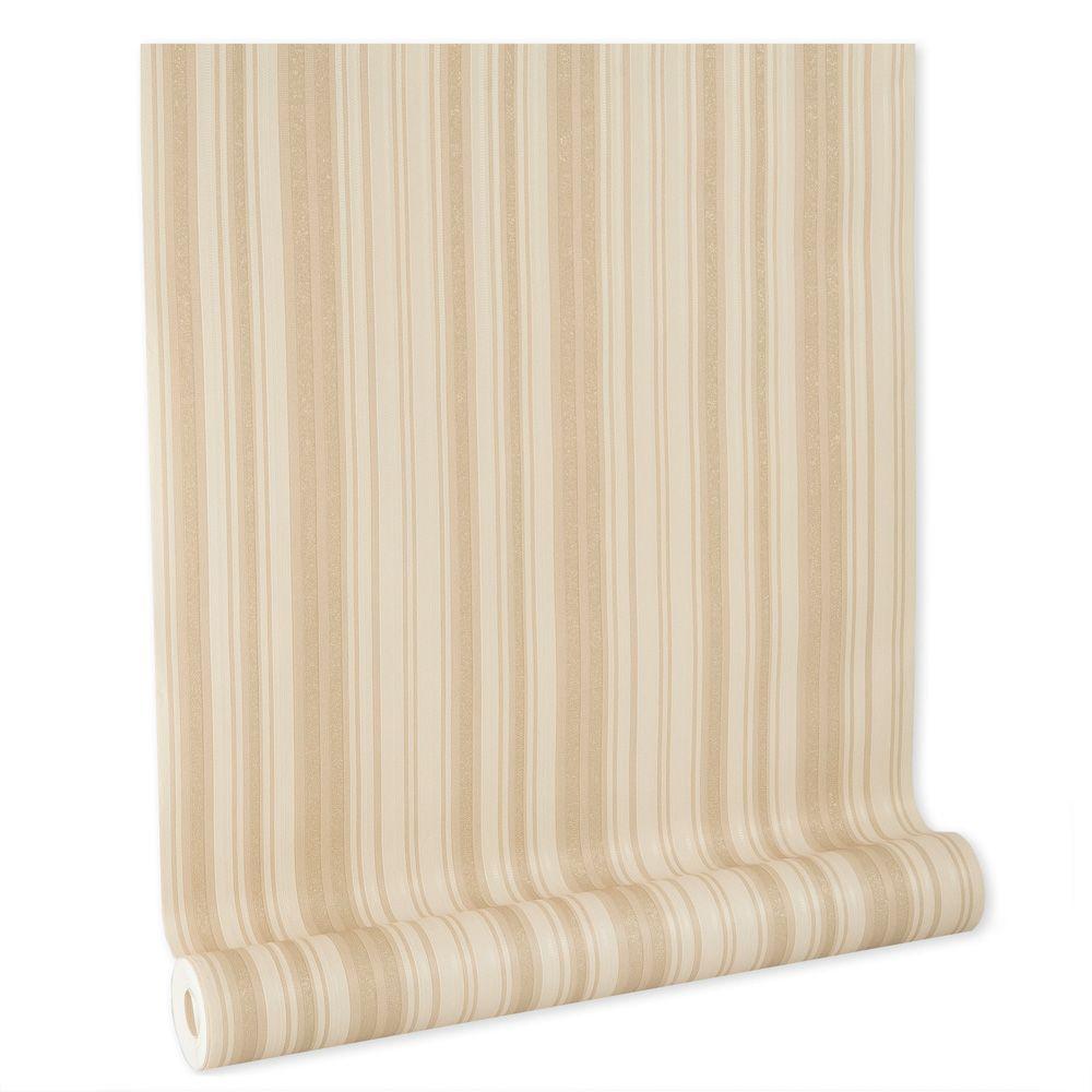 Papel De parede vinílico texturizado listrado sala 210277
