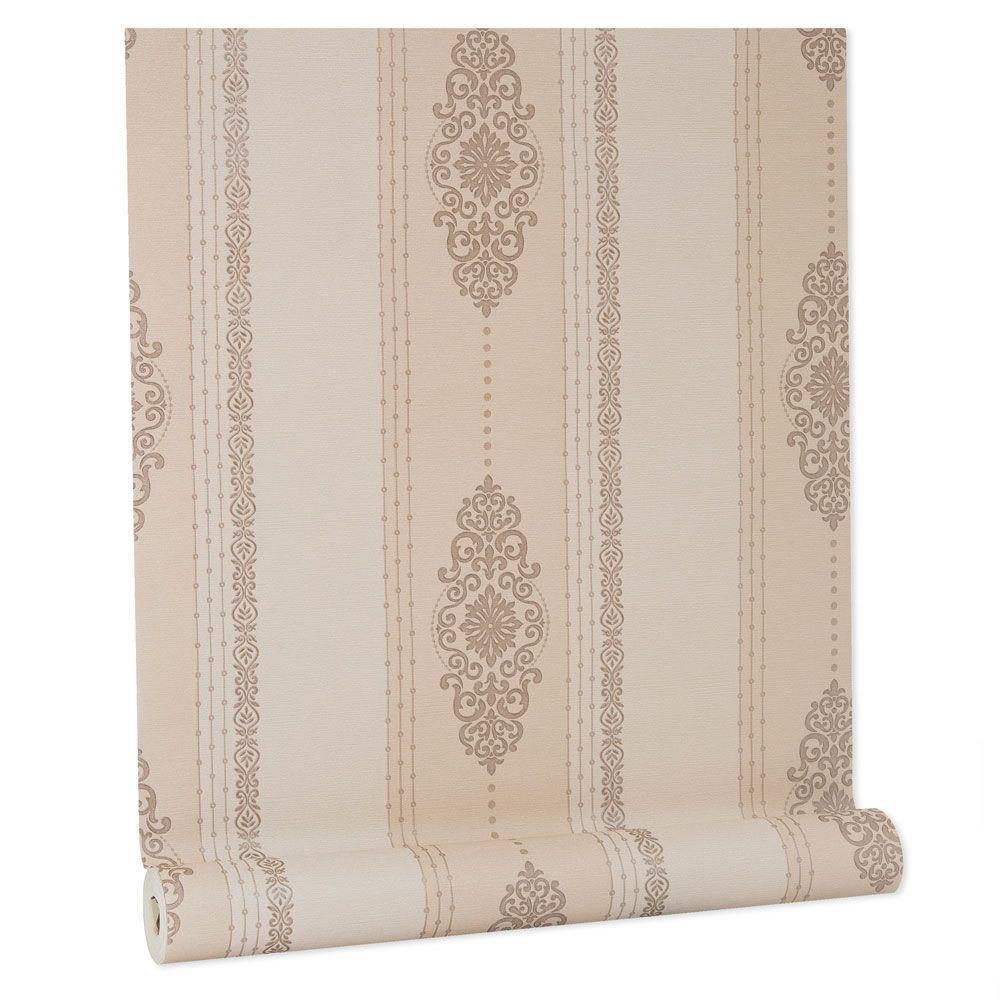 Papel De parede vinílico texturizado listrado sala 5622