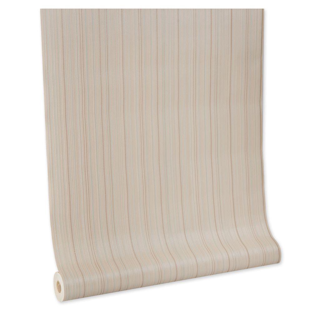 Papel De parede vinílico texturizado listrado sala 5663