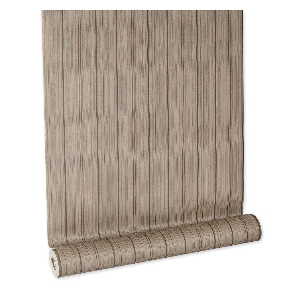 Papel De parede vinílico texturizado listrado sala 5666