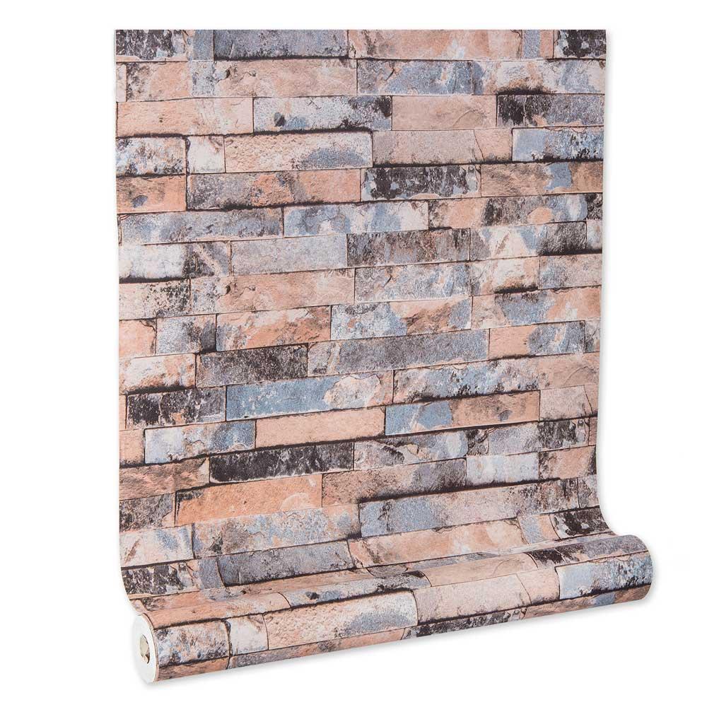Papel De parede vinílico texturizado tijolo 2262