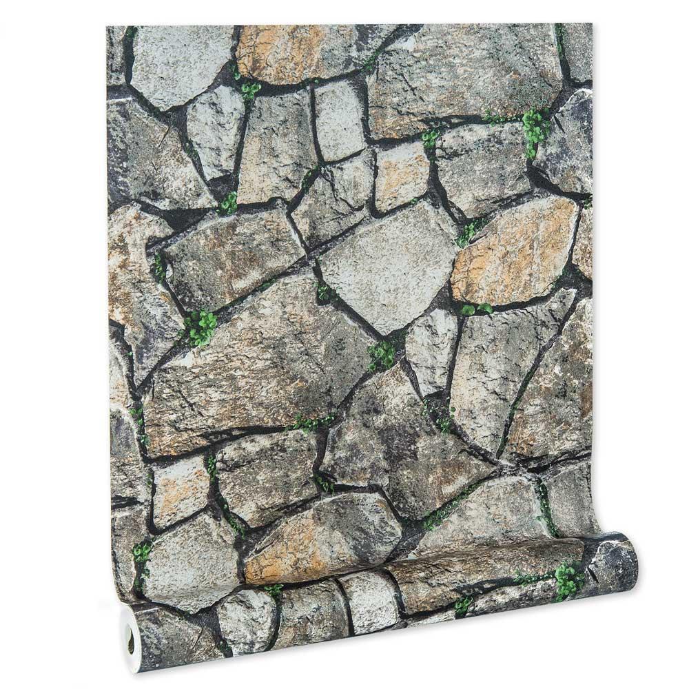 Papel De parede vinílico texturizado tijolo 2272
