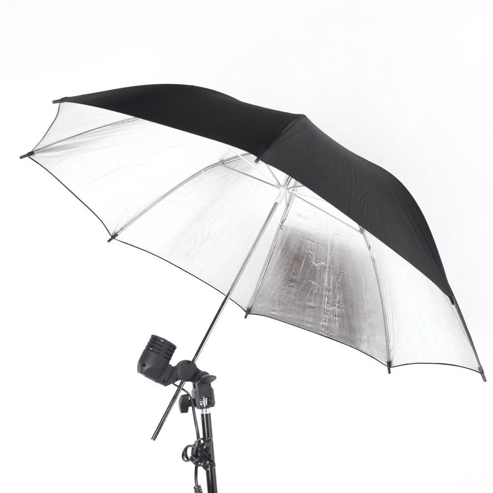 Sombrinha Preta/Prata Refletora Para Estúdio Fotográfico Kelter