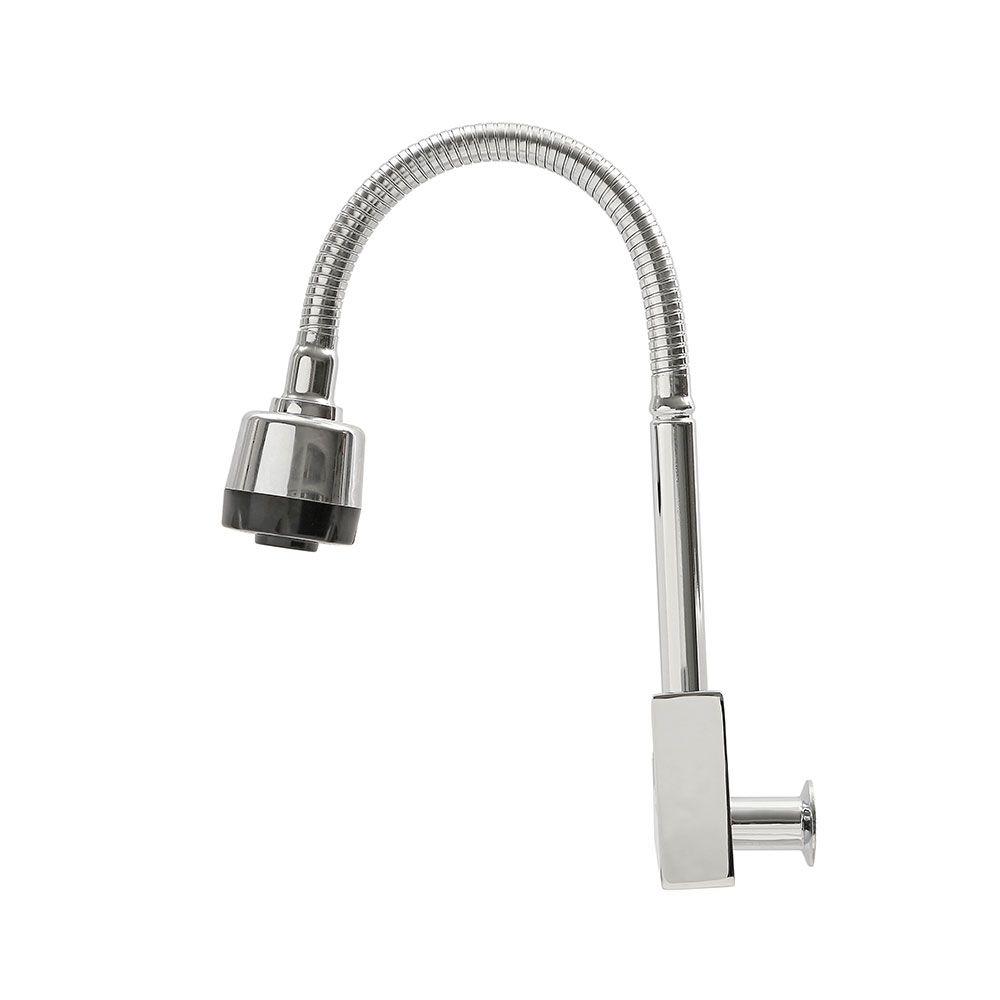 Torneira Cozinha Parede Flexível Gourmet Metal Kelter K-T102*
