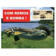 Bote Inflável Intex Seahawk 4 com par de remos e bomba de inflar #68351