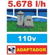 Bomba Filtrante Piscina Intex 5678 LH 110v #28635 + PAR DE ADAPTADORES B