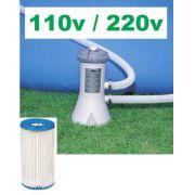 Bomba Filtrante Intex 2006 LH 110v com Transformador para 220v