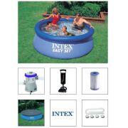 Piscina Intex 2419 L + Bomba Filtrante 110v + Bomba de Inflar + CAPA
