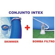 Conjunto Bomba Filtrante Intex 2006 LH 110v + Skimmer