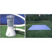 Bomba Filtrante Intex 3785 L/H 110v + Forro 4,72 m