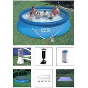 Piscina Intex 5621 L + Bomba Filtrante 110v + Bomba de Inflar + Capa + Forro