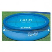 Protetor Aquecedor Solar Capa Piscina 244 Cm 2,44 m Intex #29020