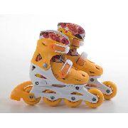 Patins Infantil In Line Fashion Rollers Bel P 28/31 Laranja