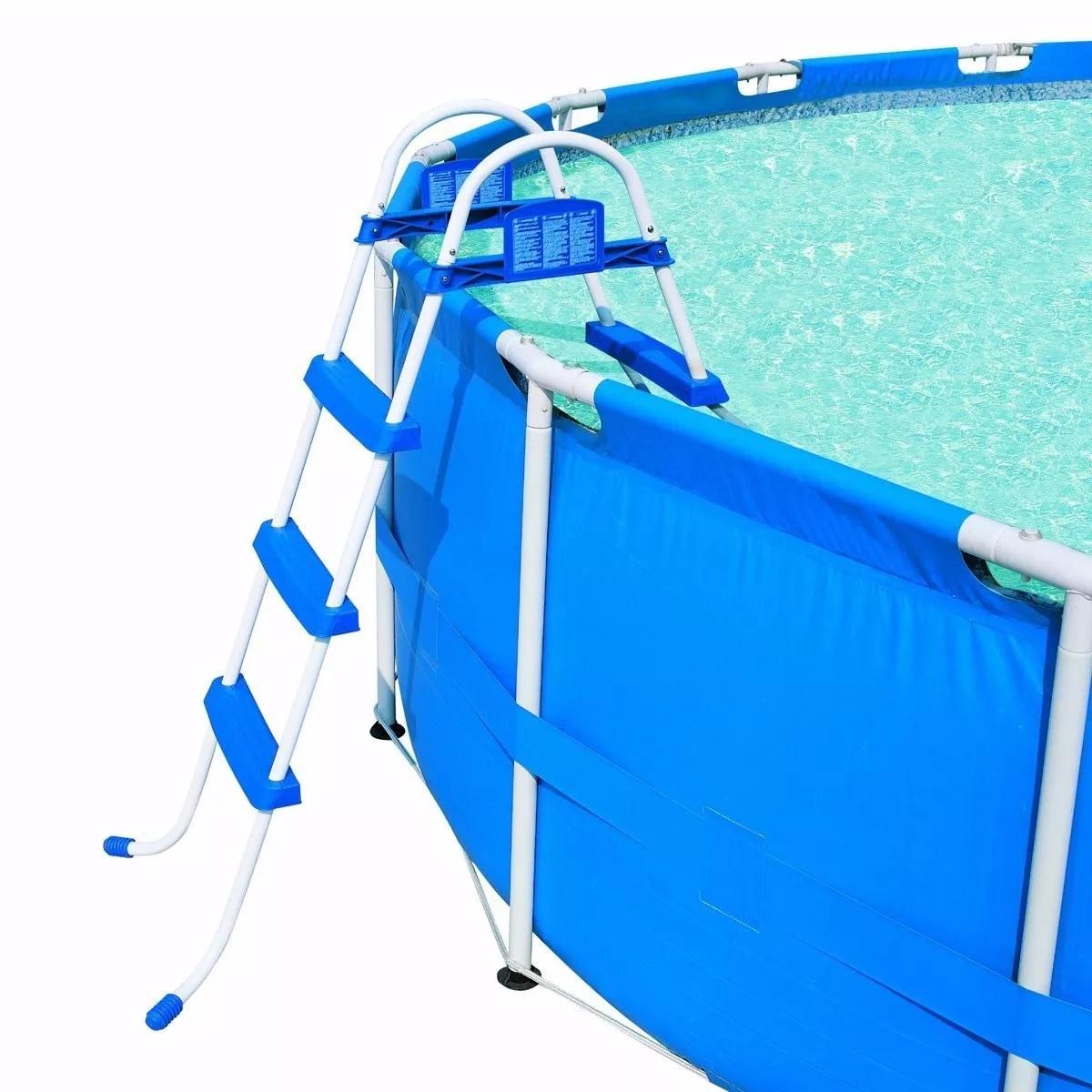Escada para piscina bestway 107 cm de altura 42 58044 Piscinas bestway medidas