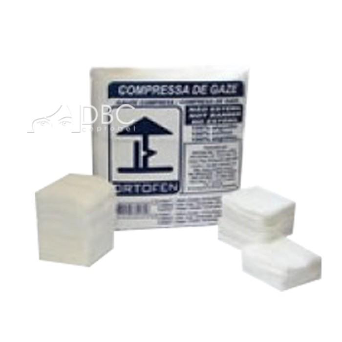 COMPRESSA DE GAZE 9 FIOS 7.5 X 7.5 CM 170G