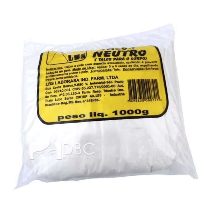 TALCO LBS 1 KG. NEUTRO