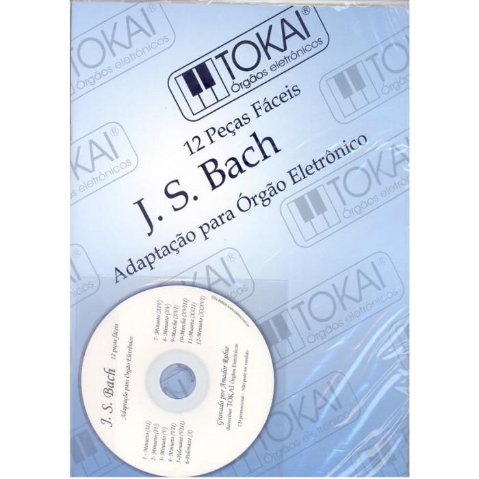 Método J. S. Bach Adaptado para Órgão Eletrônico - 12 Peças Fáceis  - Teclasom Instrumentos Musicais Ltda