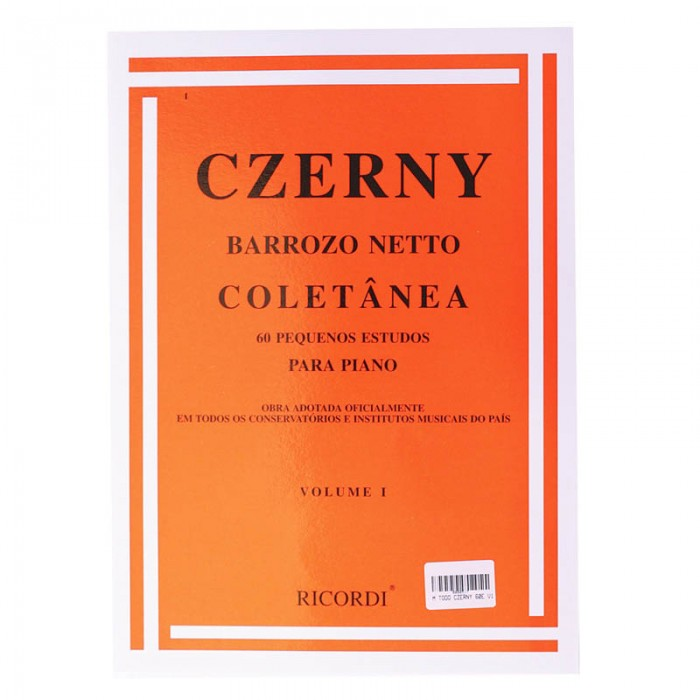Método Czerny Barrozo Neto - Volume I  - Teclasom Instrumentos Musicais Ltda