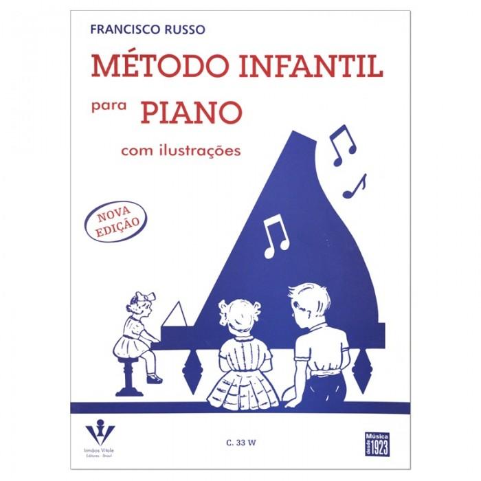 Método Infantil para Piano com Ilustrações - Francisco Russo