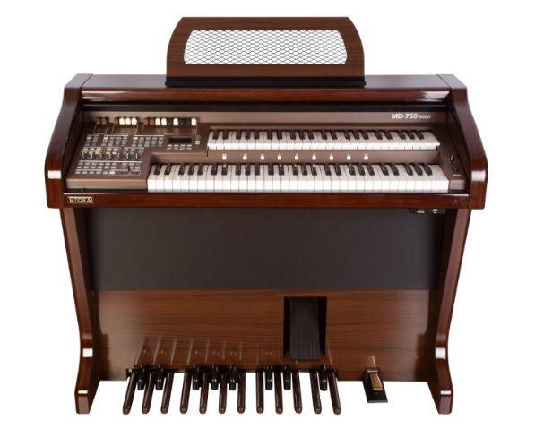 Órgão Eletrônico Tokai MD 750 Gold Imbuia Alto Brilho